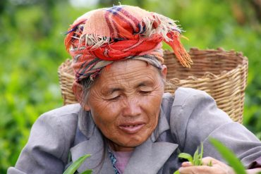 Alte Bäuerin in China